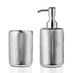 bicchiere ceramica argento