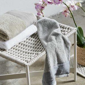 Asciugamano spugna bordo lino vari colori