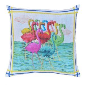 Cuscino lino Flamingo 55*55