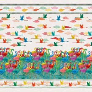 Mezzero lino Flamingo 180*280